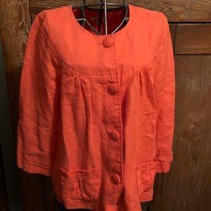 Colorful Salmon Orange Jacket.